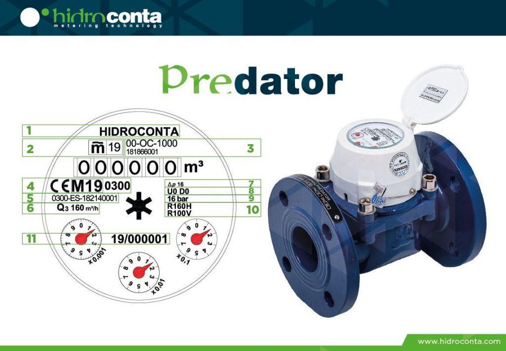 datos en las relojerías de los contadores de agua